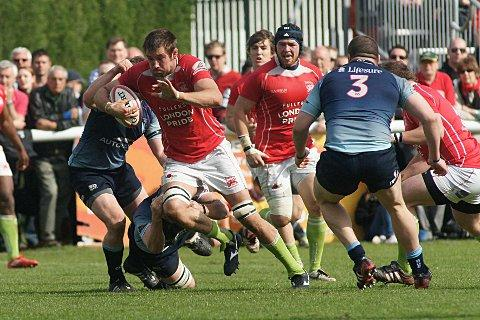 Aiming high: London Welsh lock Matt Corker is ready to earn his Premiership stripes