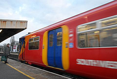 Revised South West Trains timetable today and tomorrow