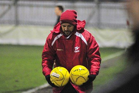 On the ball: Tommy Williams drew some positives from the defeat against Kingstonian on Saturday     SP72887