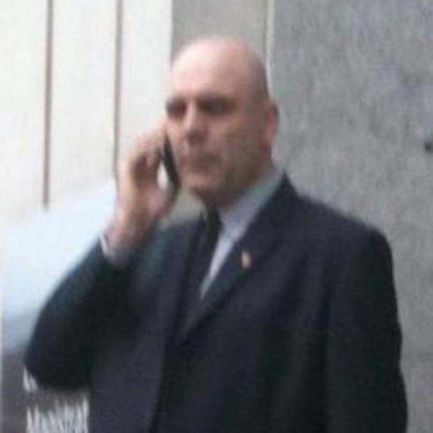 Alex Allen outside a court at an earlier hearing