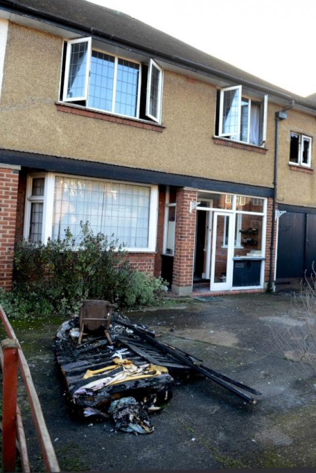 Surrey Comet: The aftermath of the blaze this morning