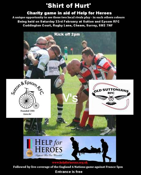 Rival rugby teams to play for charity