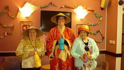 Banstead care home welcomes in Chinese New Year of the snake.