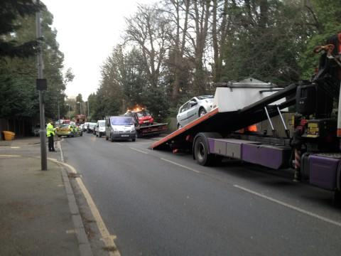 Motorist cut from car following crash in Surbiton