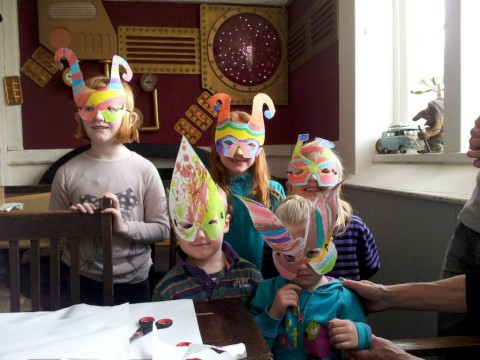 Mask-making mayhem in run-up to festival