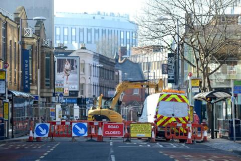 Work to fix a collapsed sewer in Eden Street has taken 11 days
