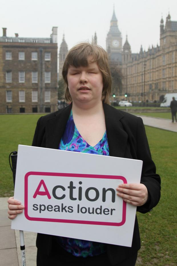 Rosie Johnson, a resident of Swail House, in Epsom, spoke at the House of Lords