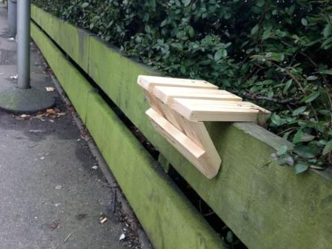 Student 'banksy' invents solution to bus stop seating shortage