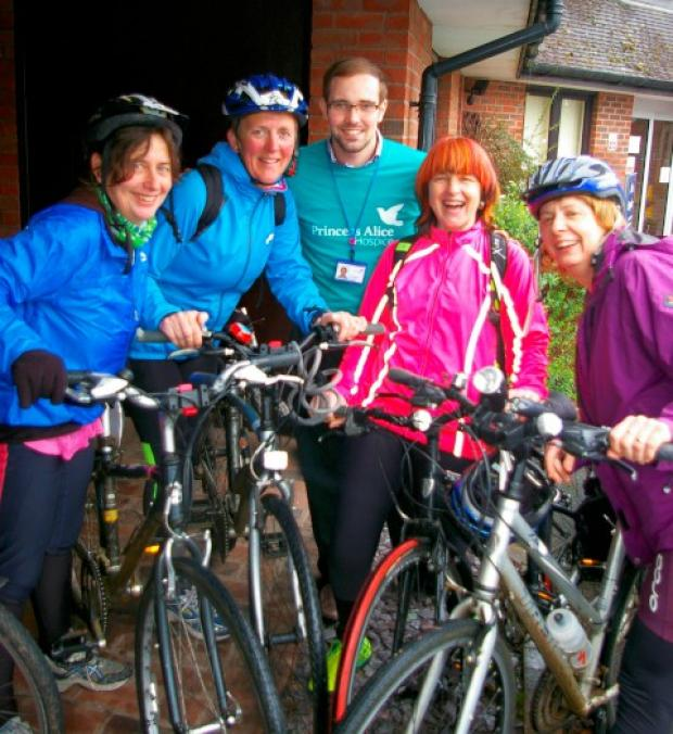 Night riders: The team are raising funds