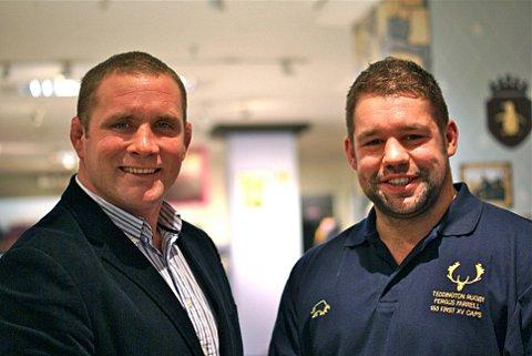 Stars: Phil Vickery and Teddington's Fergus Farrell		           Picture: Stuart Amos