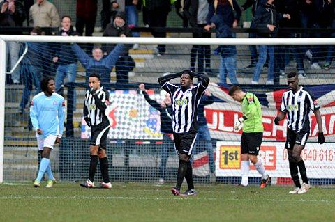 Despair: Tooting go 2-0 down against Dulwich on Saturday. SP73100