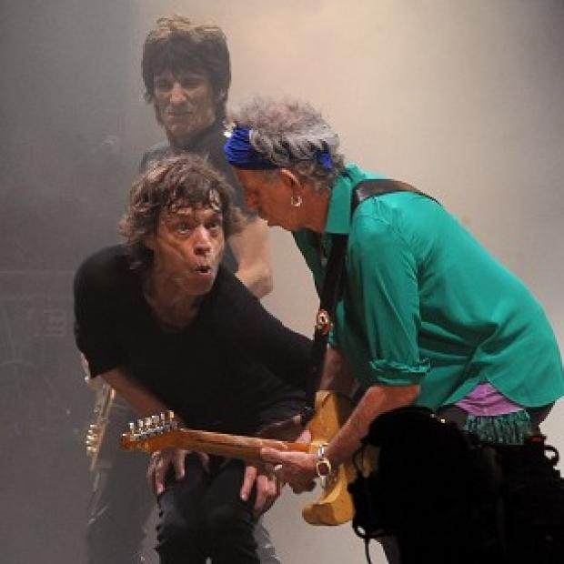 Surrey Comet: Mick Jagger and Keith Richards from the Rolling Stones perform on the Pyramid Stage