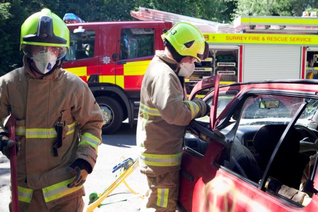 Firefighters: Helped at the scene of the accident