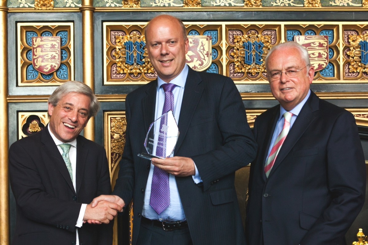Chris Grayling named Conservative MP of year for work with min