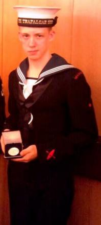 Liam Hardy enjoyed going to the Sea Cadets