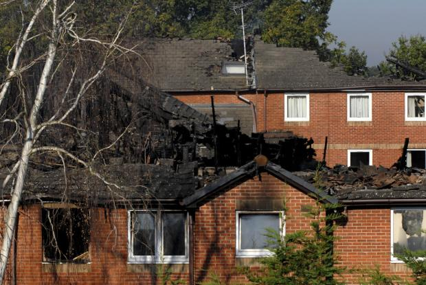 Gibson Court: The fatal fire spread through the roof