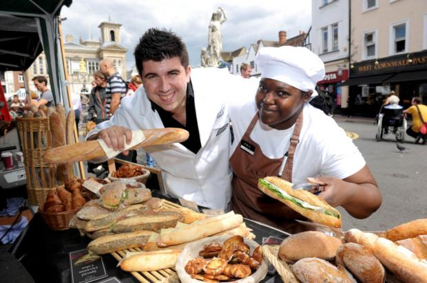 Surrey Comet: Fernando Calvo and Sharon Reid at the Kingston Food Festival