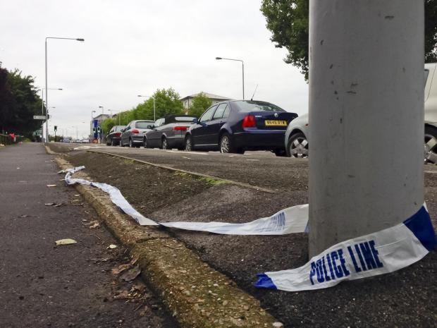 Surrey Comet: PC Andy Duncan was struck by a Black VW Golf on Reigate Avenue near to the junction of Rosehill in Sutton