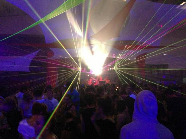 An illegal rave took place in a warehouse in Chessington last night