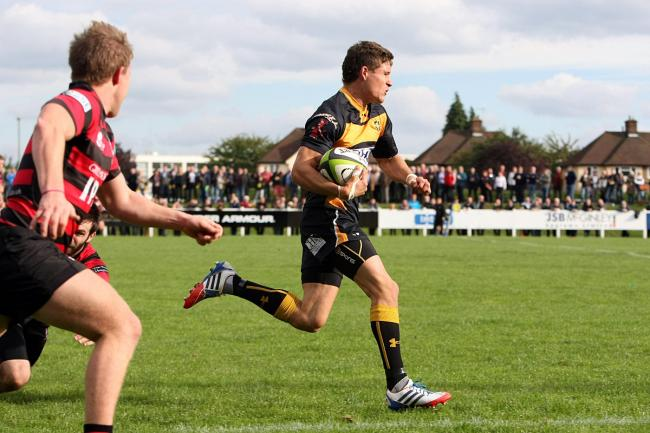 Heroic: Full back Luke Daniels is enjoyng a fine season for Esher