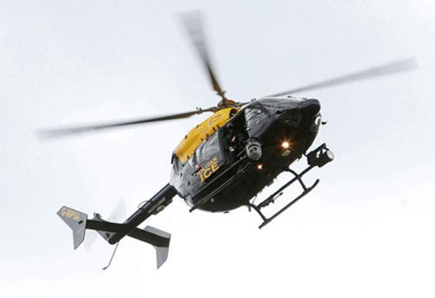 Sent back: a police helicopter (File photo)