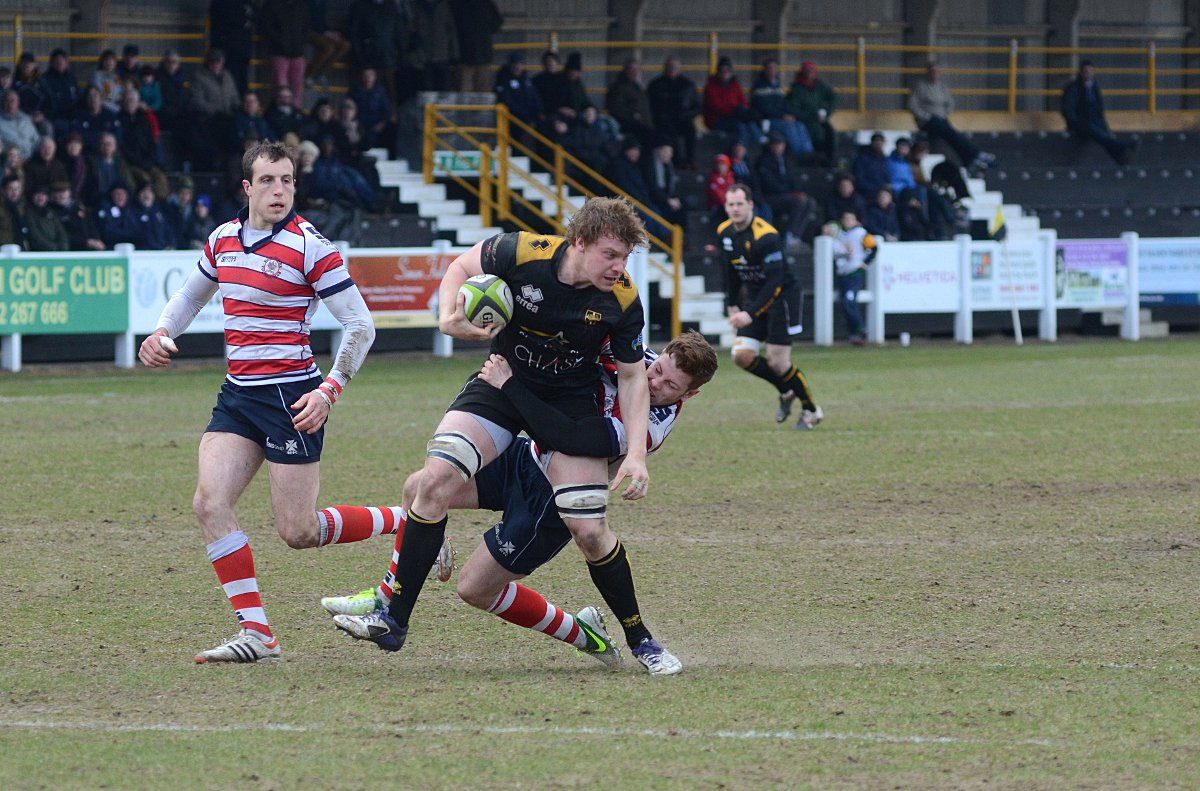 Hat-trick hero: Esher's Michael Macfarlane scored three tries against his former club on Saturday 	SP72989