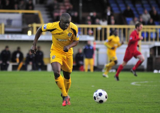 Surrey Comet: Michael Boateng playing for Sutton United