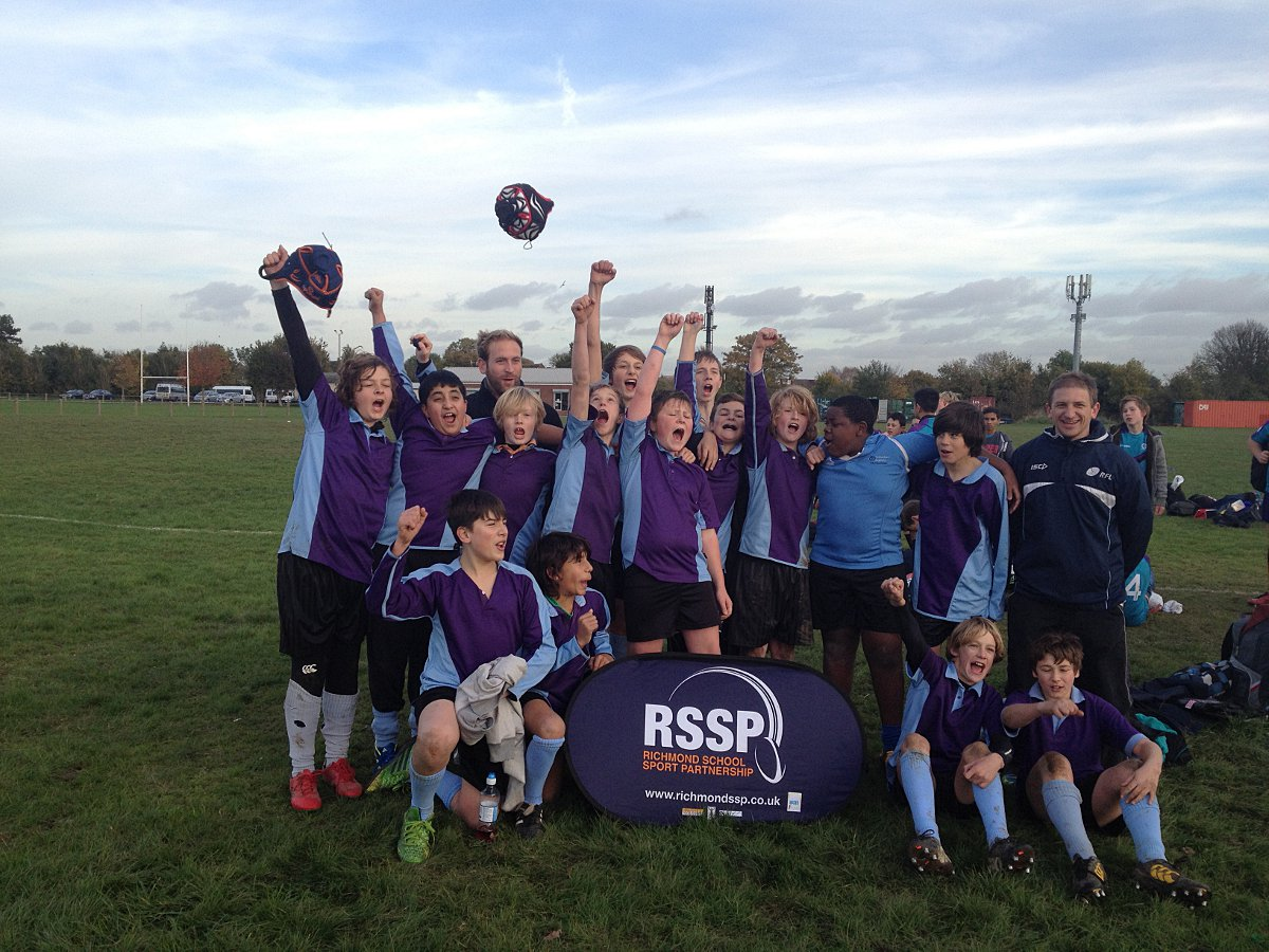 Champions: Twickenham Academy celebrate being crowned borough champions