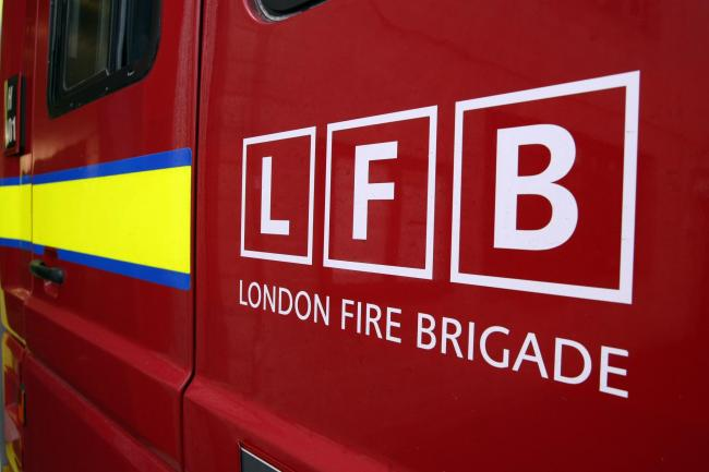 Surbiton firefighters were called to the fire last night which left Tolworth residents without power