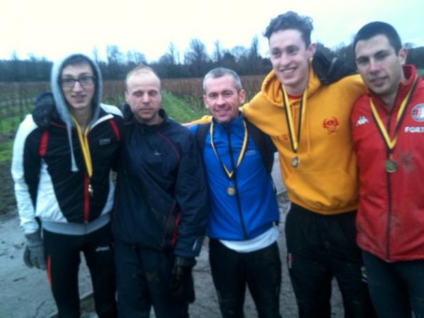 Winners: Five of the six Hercules heroes Ben Toomer, Matt Sharp, Kieran White, Liam White and Rob Tuer (26th)
