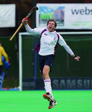 Roaring back: Wimbledon Hockey Club's Alistair Brogdon