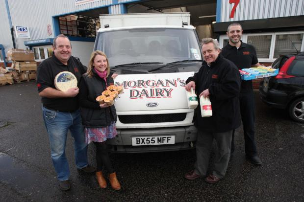 The Morgan family - Gareth, Lara, Geraint and Hywel - have moved their historic dairy company to Tolworth