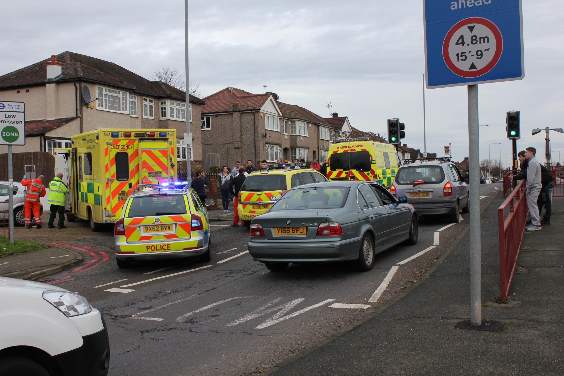 Cyclist death: An 85-year-old man has died after collapsing in Bridge Road. P
