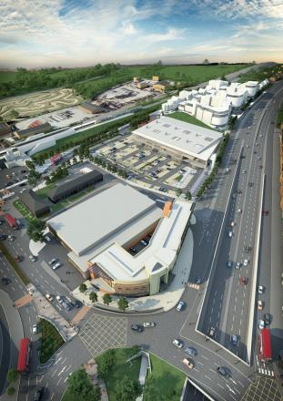 An artist's impression of Tesco's proposal for Tolworth
