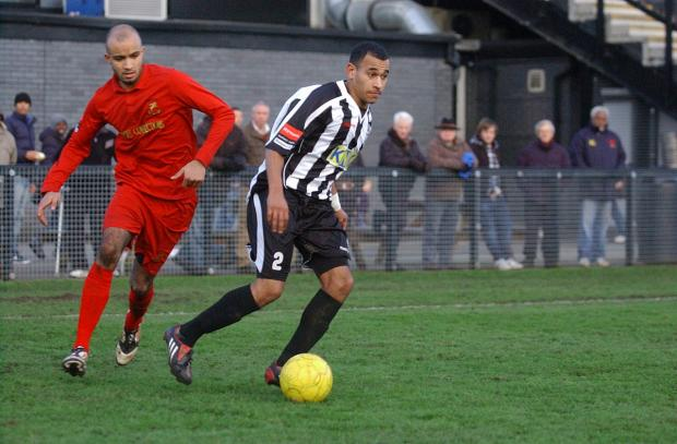 Must do better: Jordan Wilson, here in his Tooting days, wants his Robins team-mates to cut out the silly mistakes
