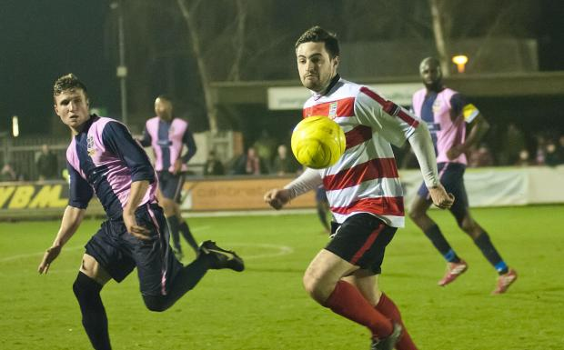 Influential figure: Ks winger Charlie Knight made a huge impact when introduced as a substitute against Dulwich Hamlet