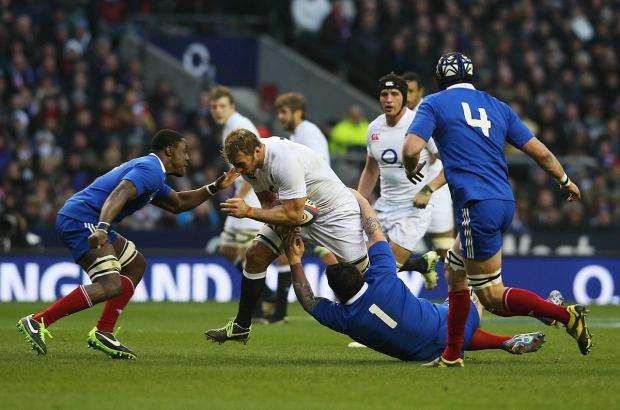 Carry on captaining: Chris Robshaw, in action in last year's Six Nations clash with Italy, has been re-appointed as skipper by coach Stuart Lancaster