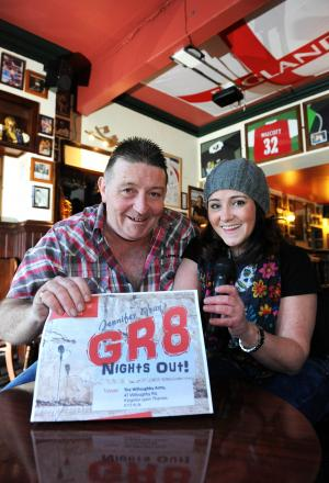Willoughby Arms landlord Rick Robinson and Gr8 Nights Out promoter Jennifer Gray have teamed up for Love Kingston