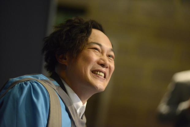 Popstar and former Kingston University undergraduate Eason Chan at his graduation ceremony today