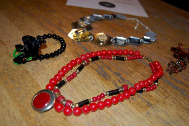 Surrey Comet: A creation from an Upcycled Jewellery event by Crafty Pint