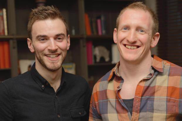 Jonny Benjamin, left, with Neil Laybourn were reunited on Tuesday