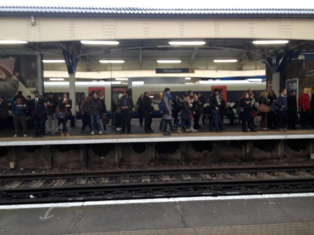 Commuters stranded at Wimbledon