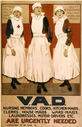 Voluntary Aid Detachments played a crucial role in the war effort - as this recruitment poster attests