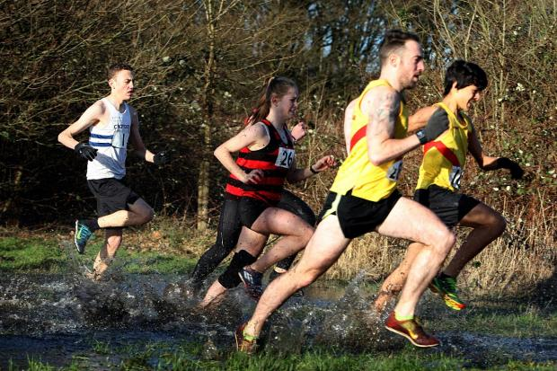 Team effort: Hercules Wimbledon in action at the East Surrey cross-country relays
