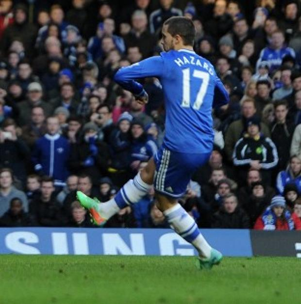 Surrey Comet: Eden Hazard netted his first Premier League hat-trick against Newcastle