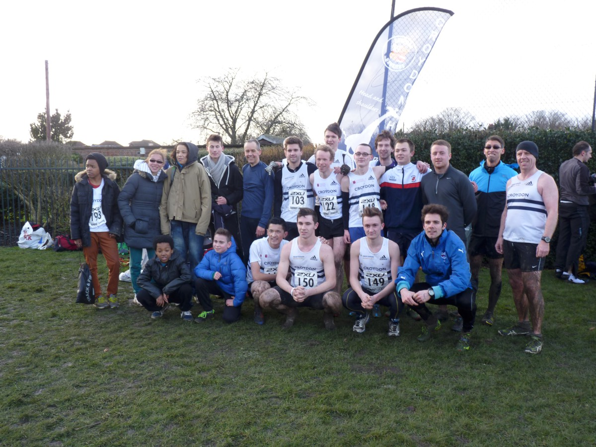 Winners: Croydon Harriers men finished second overall to win promotion to the top flig