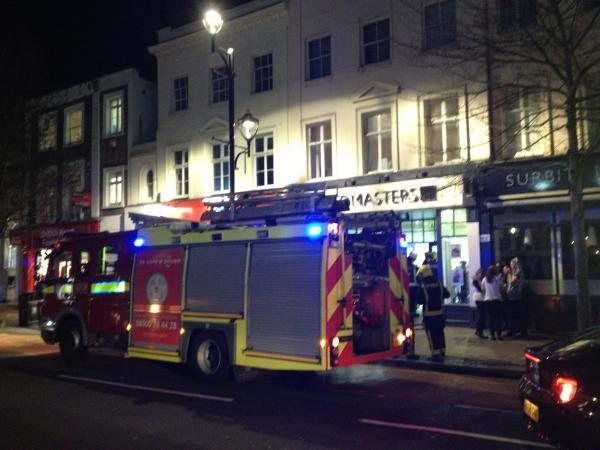 Fire crews at Headmasters