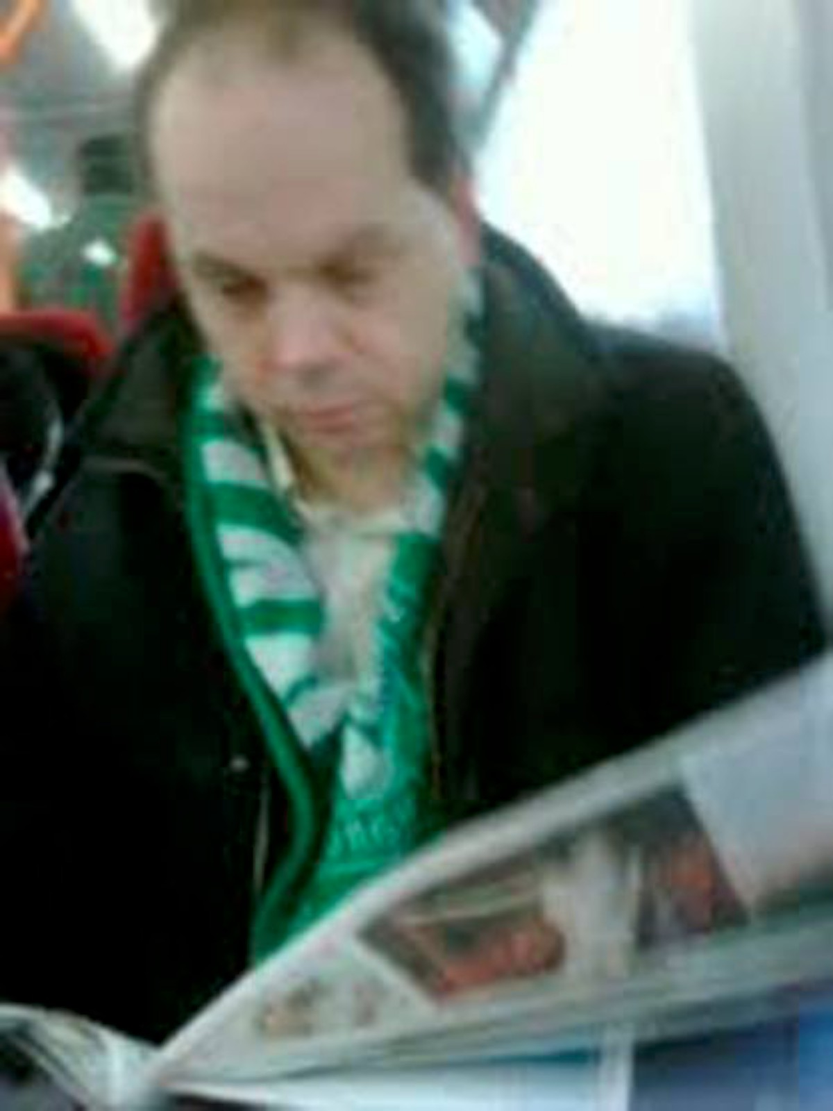 Dan Falchikov was photographed in 2010 on a train by Labour leaning political editor Kevin Maguire 'boasting' about the Save Kingston Hospital campaign