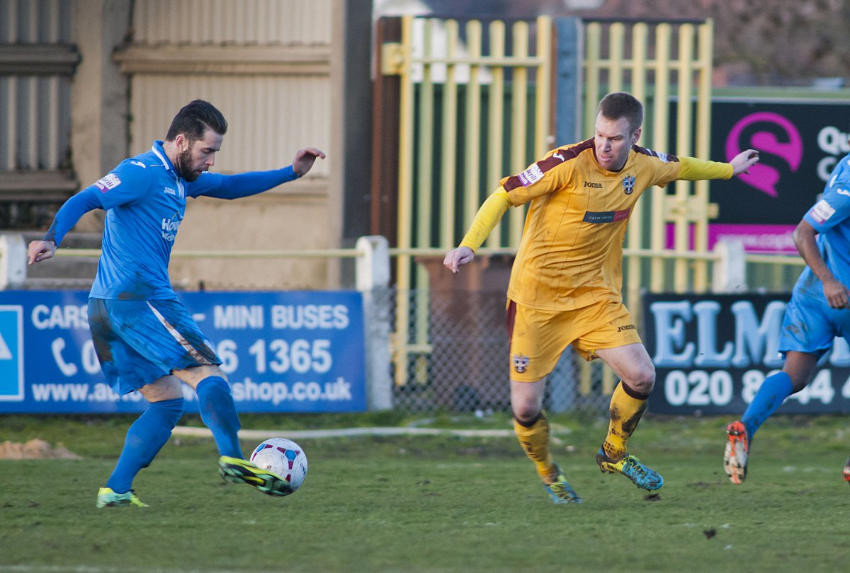 Defensive rock: Rhys Weston makes his Sutton United home debut in the 3-0 win over Weston-super-Mare on Saturday