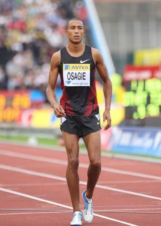 Closing in: Andrew Osagie is getting close to Seb Coe's indoor 800m best